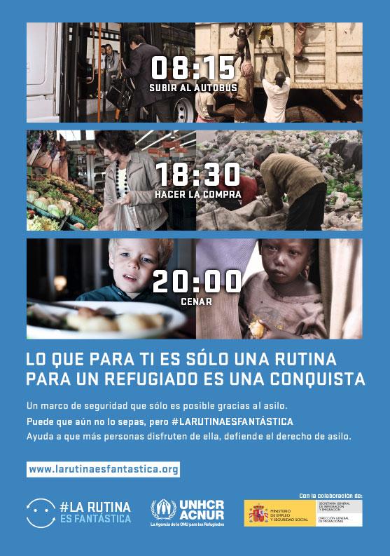 "Cartel A1 de la campaña ""La rutina es fantástica"""